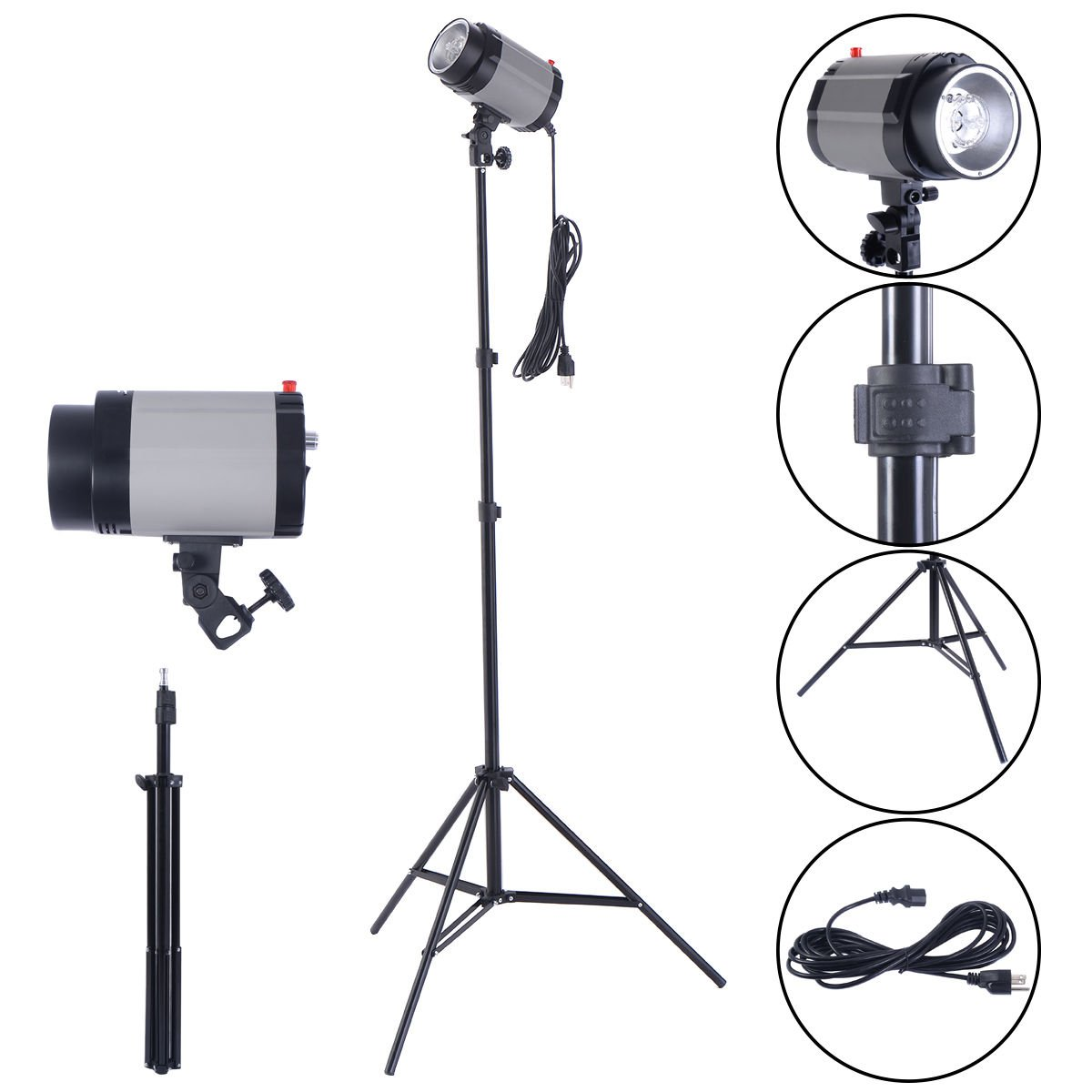 Safstar 320W(160W x 2) 5800K Photography Studio Strobe Flash Lighting Kit for Portrait Product Photography Studio Video Shoots with Stand and Carrying Bag (Set of 2)