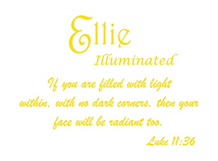 Amazon com: Baby Names Wall Decals for Ellie  Displays The Meaning