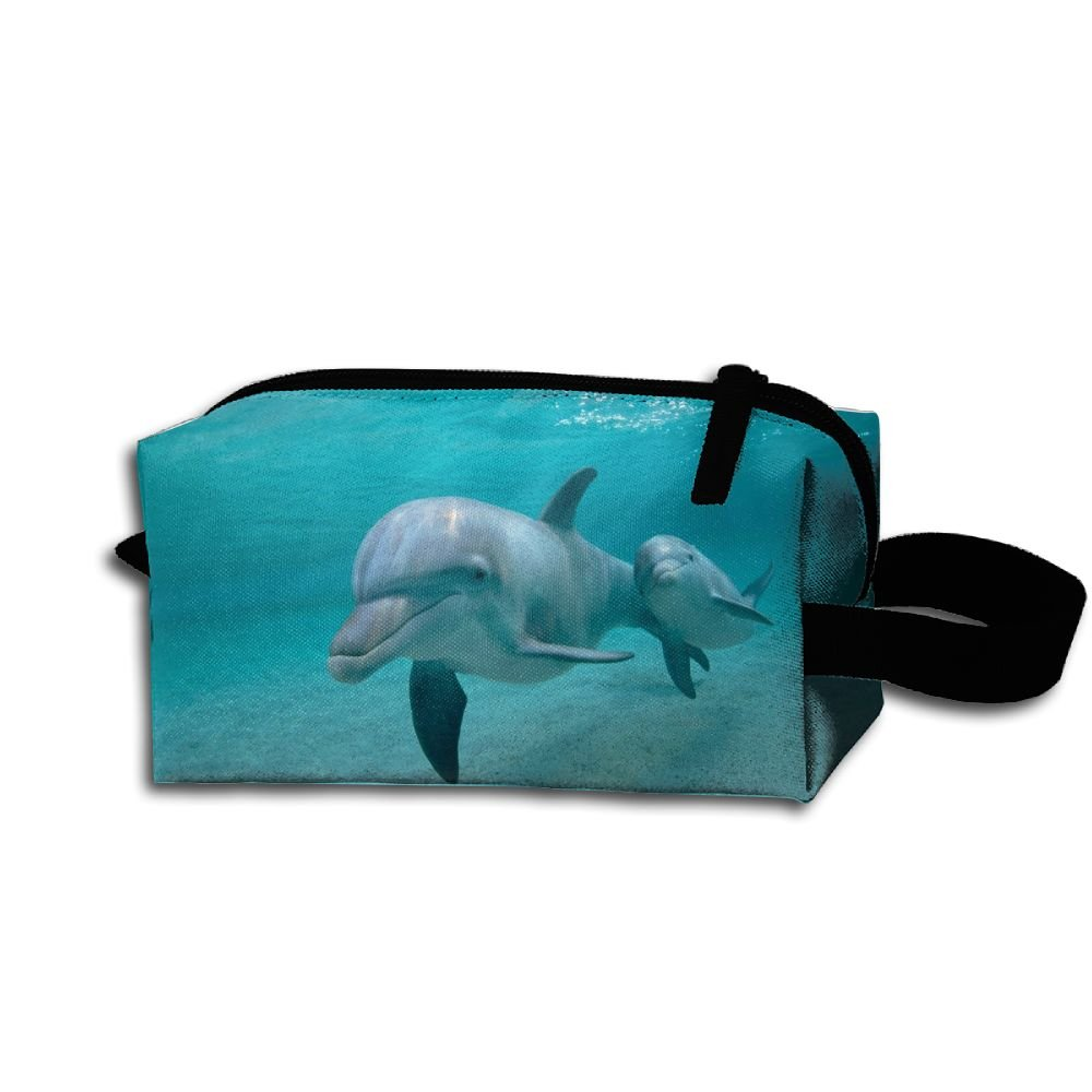Makeup Cosmetic Bag Animals Underwater Zip Travel Portable Storage Pouch For Men Women by Alone