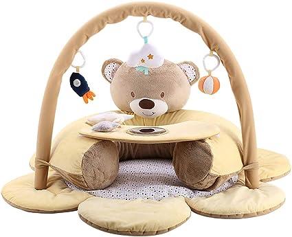 rock1on 2 en 1 tapis d eveil et d activite pour bebe aire de jeu avec plus de 5 activites arches amovibles des la naissance pour ou garcon et fille
