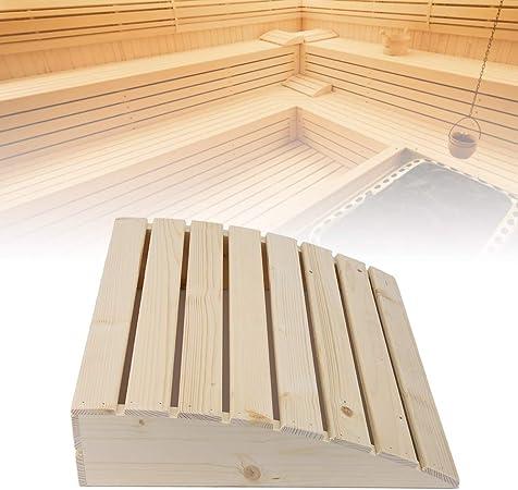 Wooden Sauna Pillow, Practical Comfortable Sauna Room Pillow Headrest Sauna Supplies Accessories for Stiff Neck, Shoulder Pain, Spinal Health, and Relaxation (Wooden Sauna Pillow)