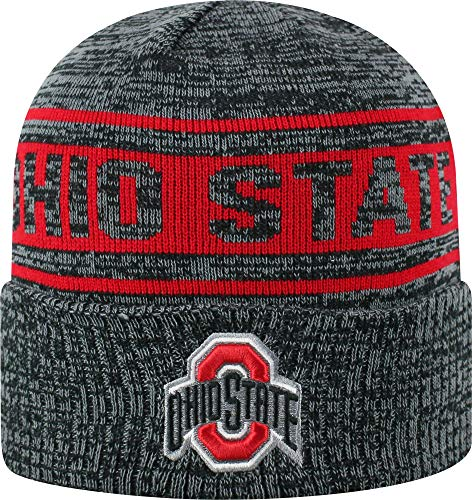 buy online 33d75 4ef5d Osu Mens Ohio State Buckeyes Sockit to Me Grey Knit Beanie (OneSize)