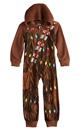 Star Wars Chewbacca Little   Big Boys Hooded Blanket Sleeper Pajama ... 212bb92fa