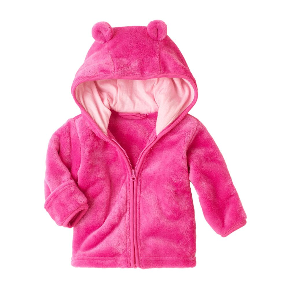 Girls Coats, SHOBDW Kids Baby Boys Basic Solid Hooded Zipper Shorts Coat Jackets Soft Winter Warm Outwear Clothes Tops SHOBDW-99