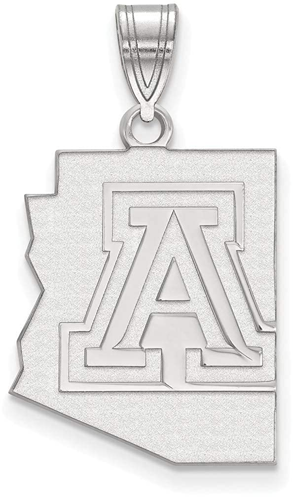 Sterling Silver University of Arizona Large Pendant by LogoArt SS039UAZ