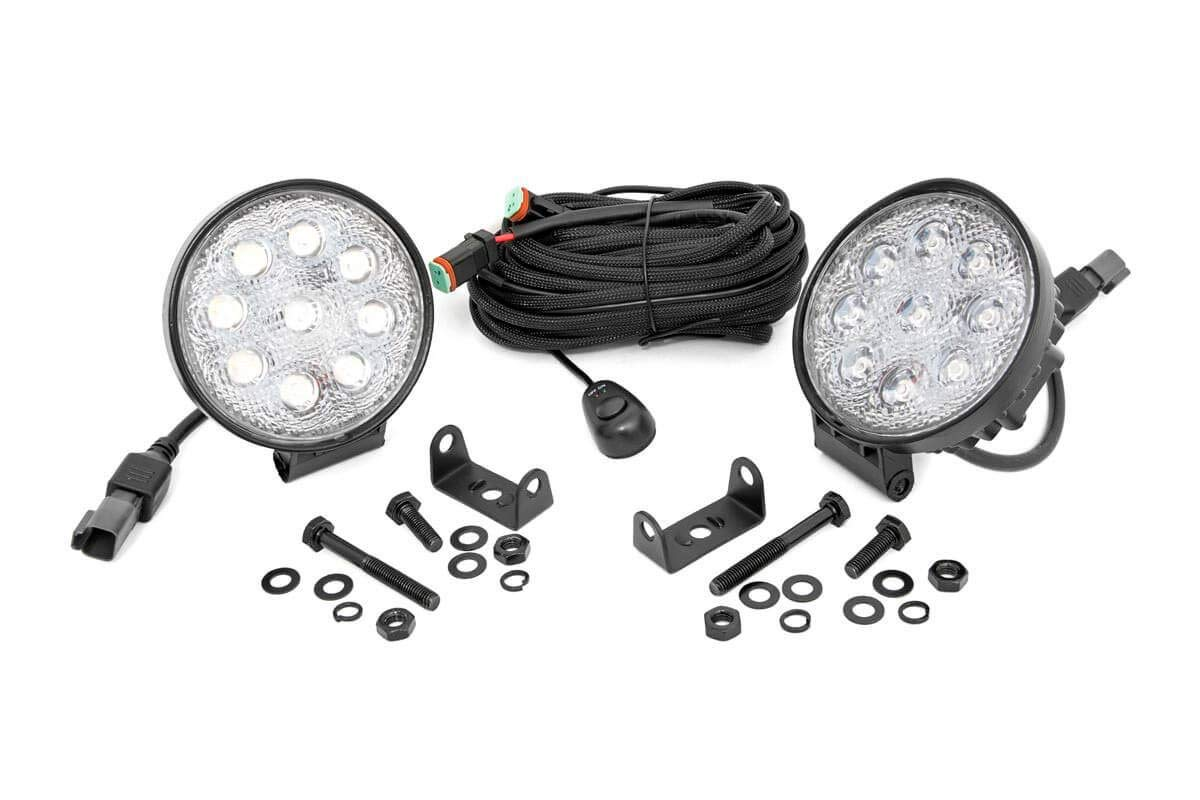Rough Country 4 LED Round Lights Pair Compatible w//Anywhere You Can Mount It 70804 LED Round Lights