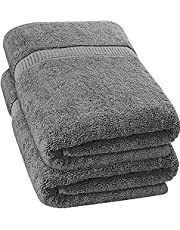 Utopia Towels - Luxurious Jumbo Bath Sheet - 600 GSM 100% Ring Spun Cotton Highly Absorbent and Quick Dry Extra Large Bath Towel - Super Soft Hotel Quality Towel (35 x 70 Inches, 2-Pack) (Grey)