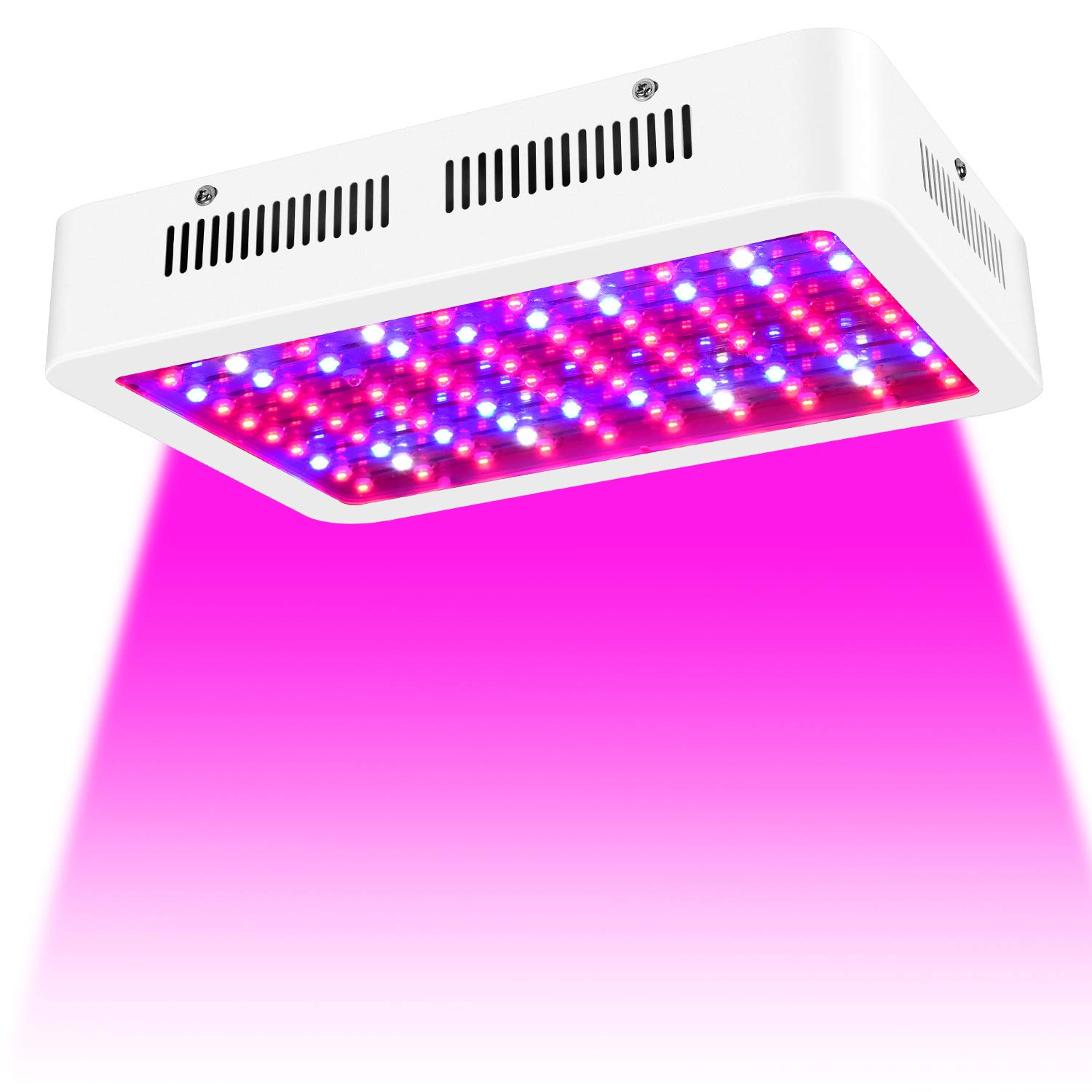 1000W LED Grow Light, Lxyoug Double Chips Full Spectrum Grow Lamp with Rope Hanger for Indoor Greenhouse Hydroponic Plants Veg and Flower