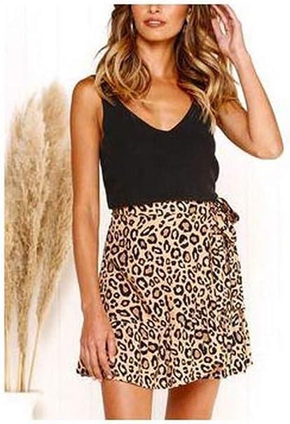 Exquisito falda-larga-mujer-ASAM638 Sexy Cottage Leopardo ...