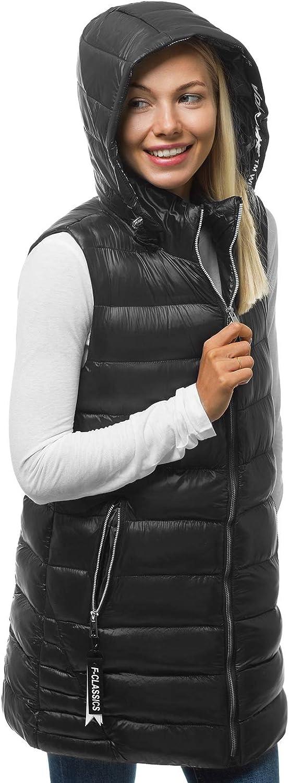 OZONEE Damen Weste Steppweste Kapuze Vest /Ärmellos Jacke /Übergangs Daunenweste Damenweste Steppweste Sportweste /Übergangsjacke Bodywarmer Outdoor L/ängere N//6322
