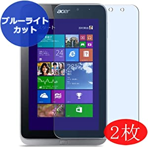 """【2 Pack】 Synvy Anti Blue Light Screen Protector for Acer ICONIA Table W4-821P 8"""" Screen Film Protective Protectors [Not Tempered Glass]"""