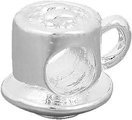 fae6445b7 Charm Buddy Tea Coffee Cup Saucer Charm Fits Pandora Style Bracelets