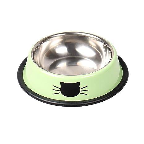 AOLVO - Cuenco Interactivo para Gatos, Acero Inoxidable, Cuenco para Comida de Mascotas con