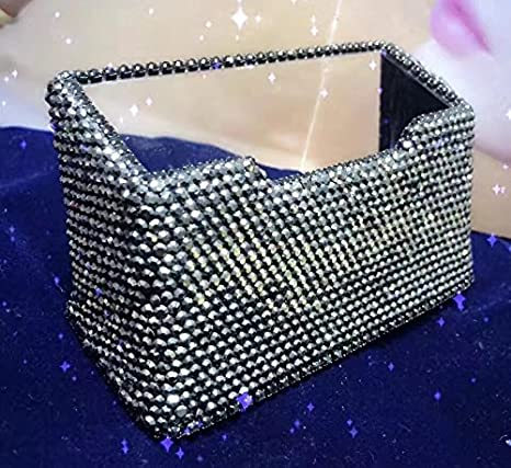 Amazon tishaa luxury gorgeous bling bling decorative business tishaa luxury gorgeous bling bling decorative business card holder black colourmoves