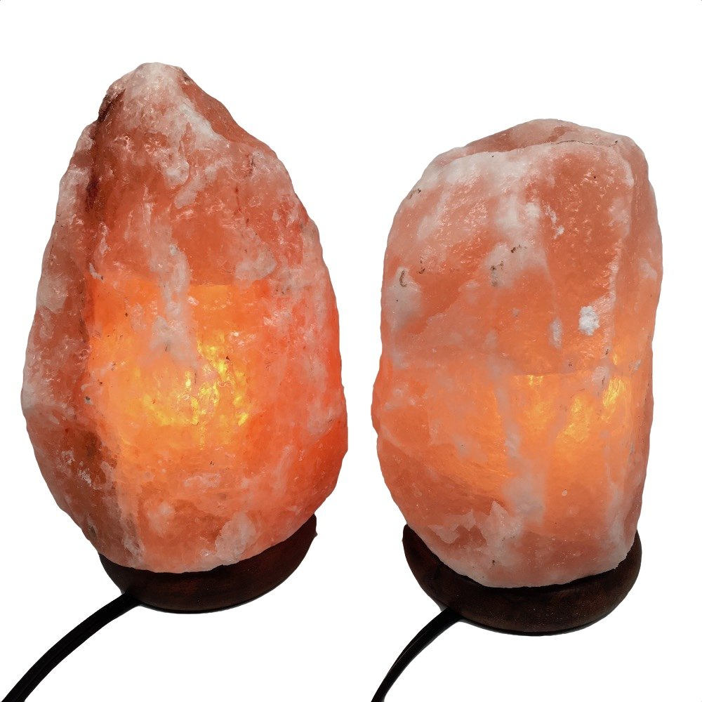 2x Himalaya Natural Handcraft Rough Raw Crystal Salt Lamp 7.5''-8.25''Tall, X097, Exact Item will be Delivered
