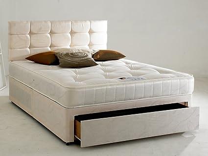 Divine apagado cristal Diván cama con cabecero de cama ...