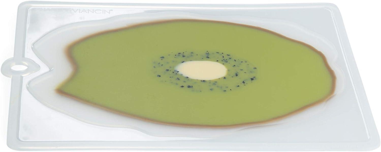 Charles Viancin Silicone Kiwi Flexible Cutting Board, 8x11-Inch, Green