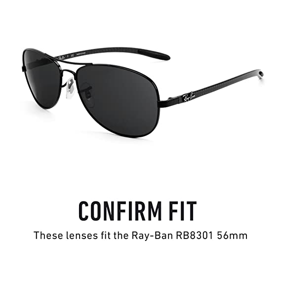 c2b2f3df02 Revant Replacement Lenses for Ray-Ban RB8301 56mm Elite Adapt Grey  Photochromic  Amazon.co.uk  Clothing