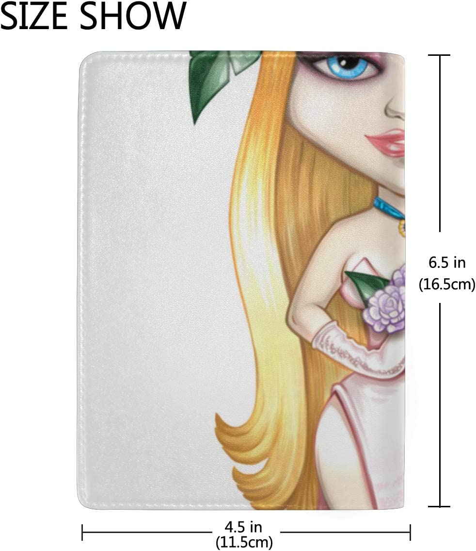 Nylon Passport Case Portrait Of A Beautiful Girl Death Stylish Pu Leather Travel Accessories Passport Case Waterproof For Women Men