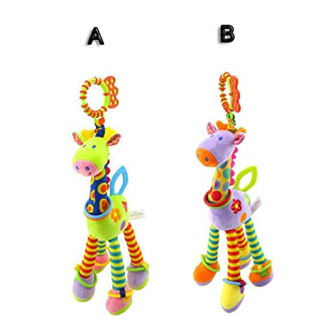 FJY Baby Hanging Toy Rattle Soft Plush On Stroller Pram Pushchair