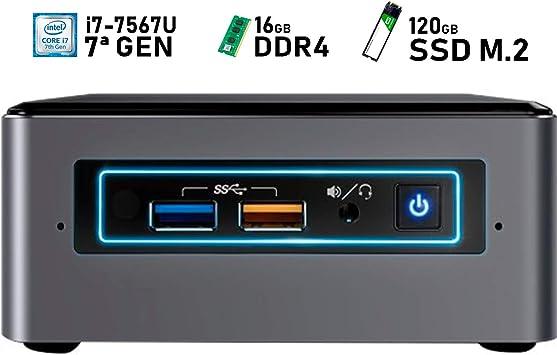 Intel NUC i7-7567U + 16GB DDR4 + 120GB SSD M.2 + Windows 10 ...