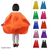 10pieces-Special Satin Boys&Girls Superhero Cape Any Color One Side