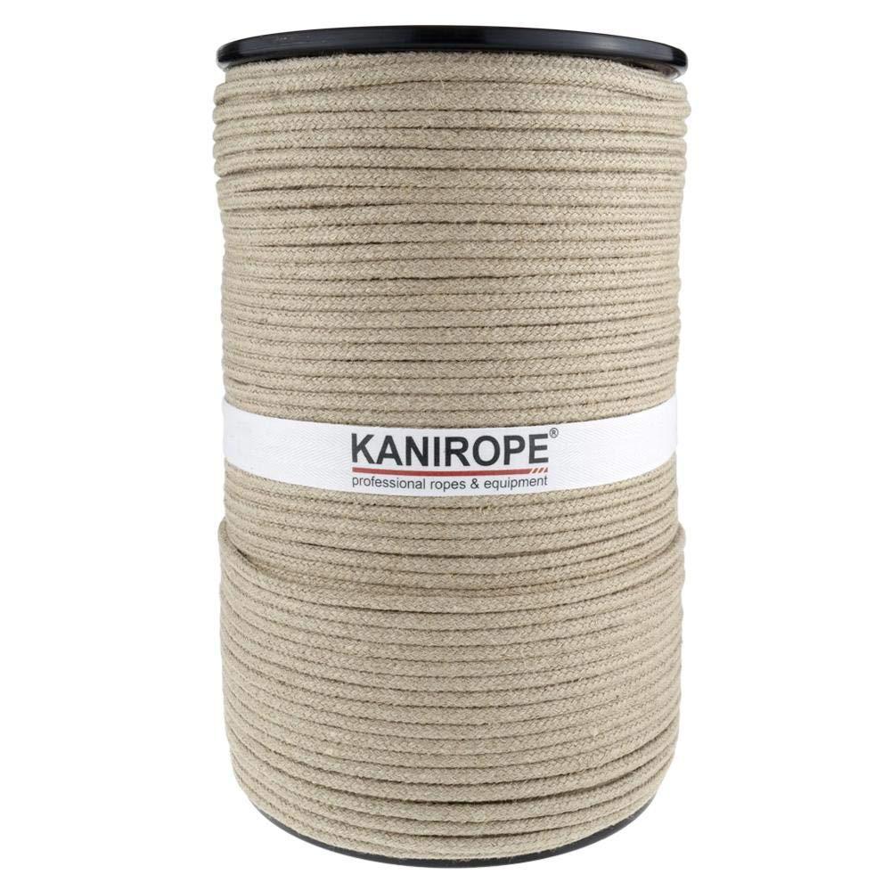 Kanirope/® Hanfseil Seil Hanf HEMPBRAID 8mm 100m 16-fach geflochten