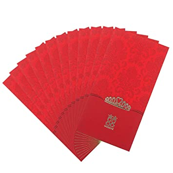 Amazon Com Traditional Chinese Wedding Gift Red Envelopes Pocket