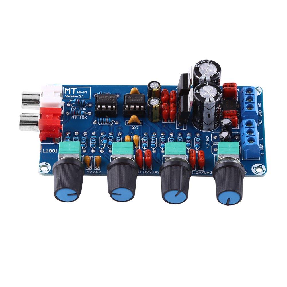 Amplifier Board, HiFi OP-AMP Amplifier NE5532 Preamplifier Volume Tone Control Assembled Board Hilitand