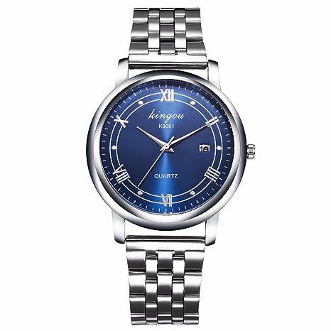 Hombre Relojes de pulsera, weant k6001 Hombre Lujo Reloj Hombres Acero Inoxidable Reloj de cuarzo