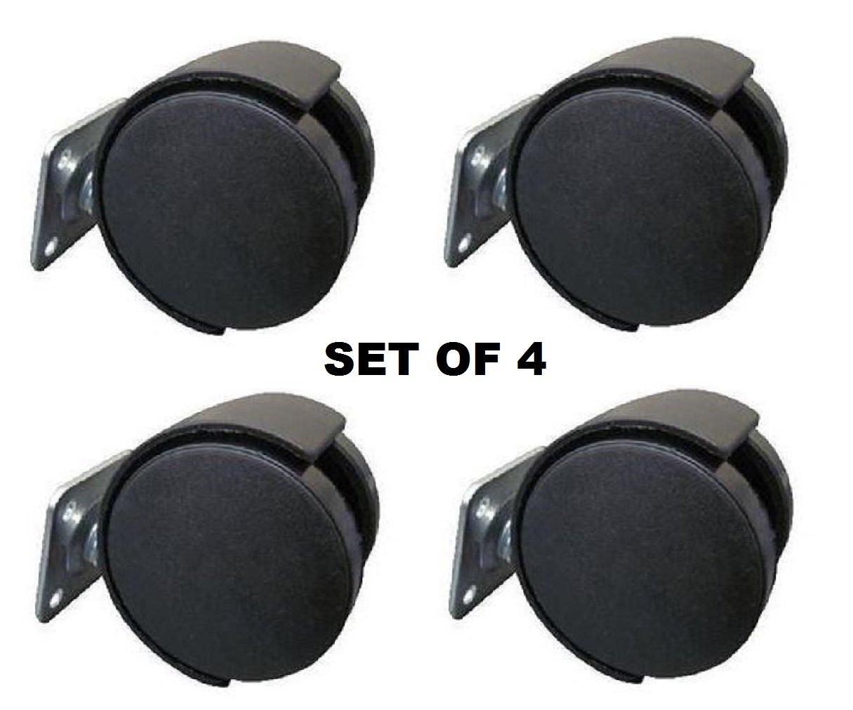 "4 x Top Plate Mount 2/"" Wheel LOCKING Furniture Caster All Floor Type Heavy Duty"