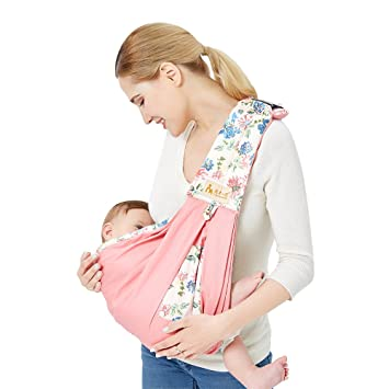 Amazon Com Tianer Baby Sling Carrier Baby Wrap Natural Cotton