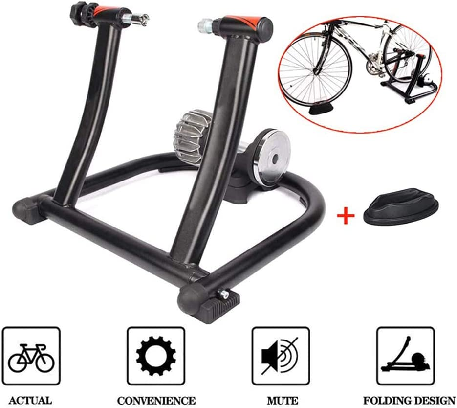 XFY Bicicleta Magnética Turbo Trainer, Resistencia Fluida Soporte Portátil para Ejercicio de Bicicleta, para Magnetorresistivo Plataforma Montar a Caballo Durante 16-20 Pulgadas Bicicletas