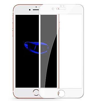 499679e5b74 TENDLIN Cristal Templado iPhone 7 / Cristal Templado iPhone 8 Cobertura  Completa Buen Vidrio Templado Protector Pantalla para iPhone 7 y iPhone 8  (Blanco): ...