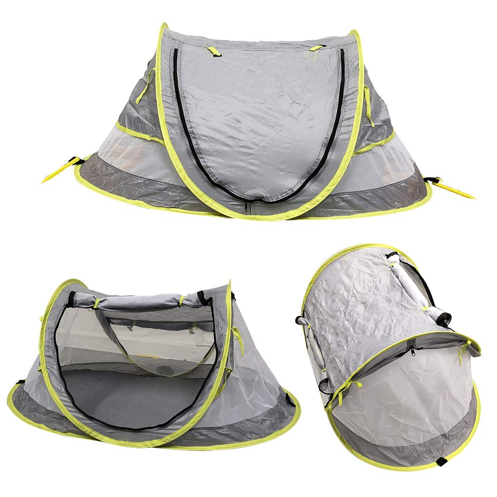 Baby Beach Tent UV Protection Portable Pop Up Travel Tent Home Yard Infant Sun Shelter Sleeping Mosquito Netting (Luxury(Double Layer)) by La funcosa