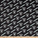 Fabric Traditions NFL Cotton Broadcloth Oakland