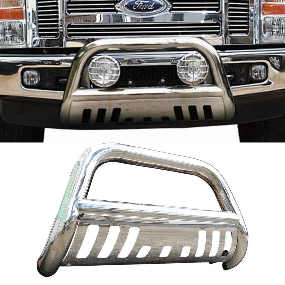 Bull Bar Fits 1997-2004 Ford F150 250LD Brush Push Grill Guard Front Bumper Grill Guard by IKON MOTORSPORTS 2005 2006 2007 2008 2009 2010 2011 2012 2013 2014 2015 2016
