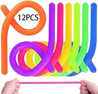ADHD Autismo Colorful Juguetes de Estiramiento Sensorial Fidget Ayuda a Reducir la Inquietud Debida al Estr/és y la Ansiedad por Add 12 Pack