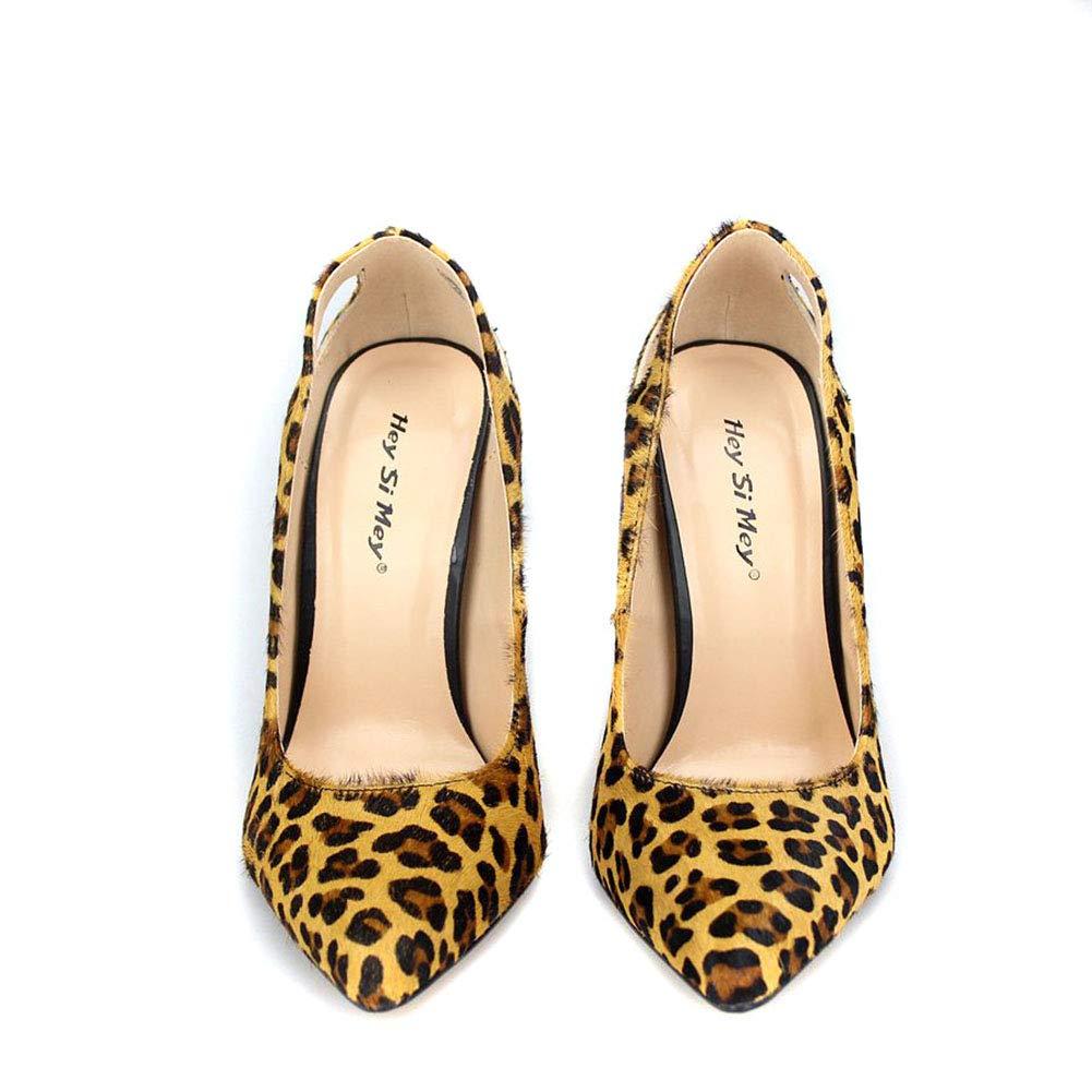 ¥schuhe Frauen Leopardenmuster Spitz Spitz Spitz High Heel Sexy Prom Club Kleid Party Schuhe 91d59b