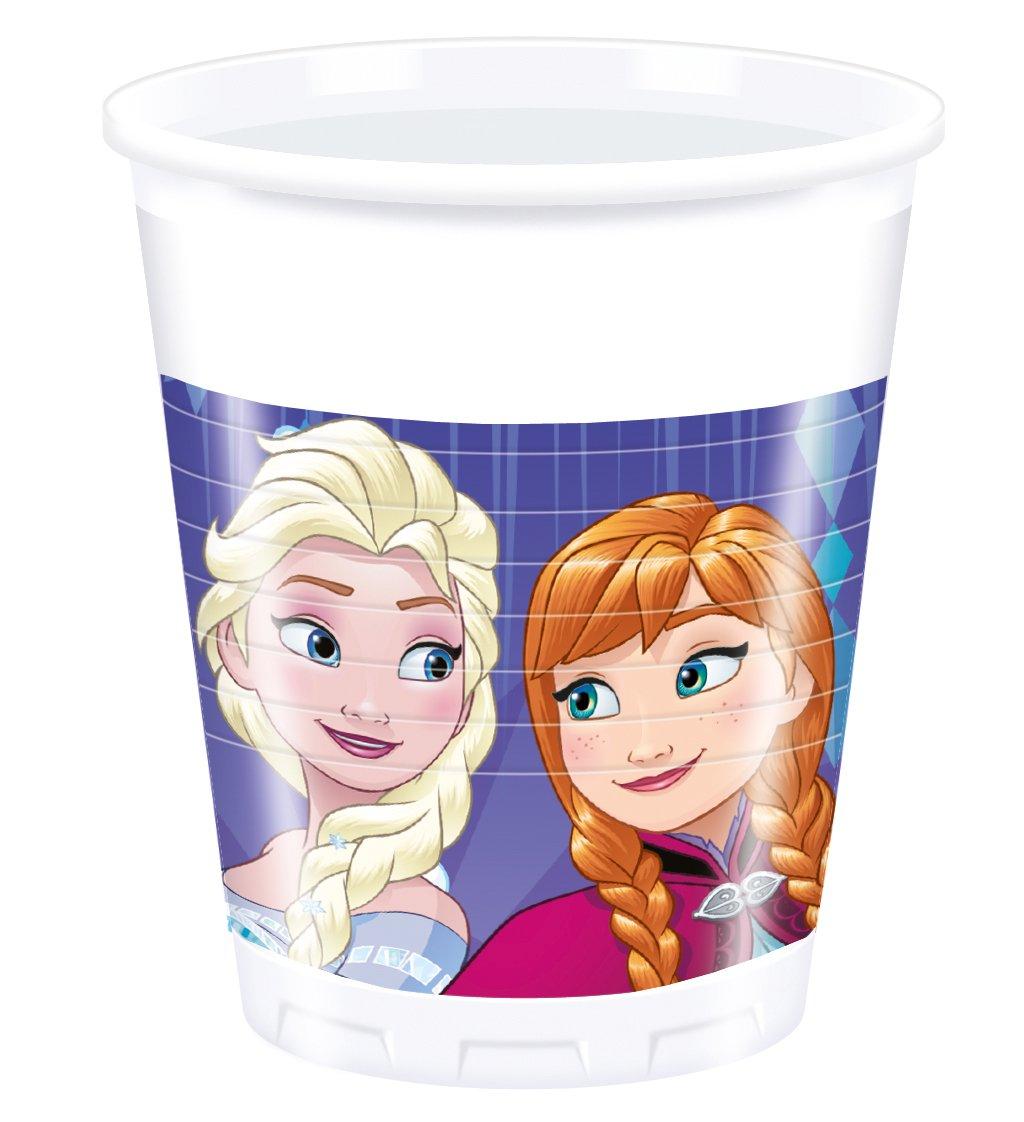 36-teiliges FESTA INSIEME Frozen La regina dei ghiacci piatti tazza tovaglioli con ANNA ELSA E OLAF PER 8 Bambini NUOVO DESIGN 2017 Fiocchi di neve