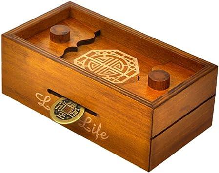 TOYMYTOY Caja Magica Caja secreta rompecabezas de madera Caja de ...