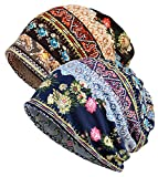 XYIYI Women's Baggy Soft Slouchy Beanie Chemo Cancer Hat Stretch Infinity Scarf Head Wrap Cap (Multicolor)