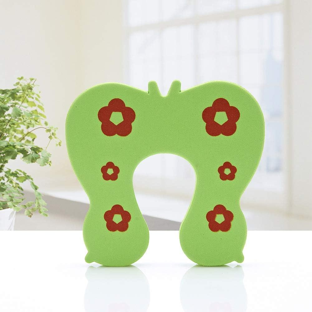 design /él/égant s/écurit/é enfant et b/éb/é Youjinsh Lot de 7 protections anti-pincement pour porte en mousse ultra douce vert