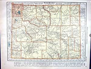Impresión Antigua del Mapa del Minero Mar de Mcnally Wyoming América Alaska Bering de 1936 Randes