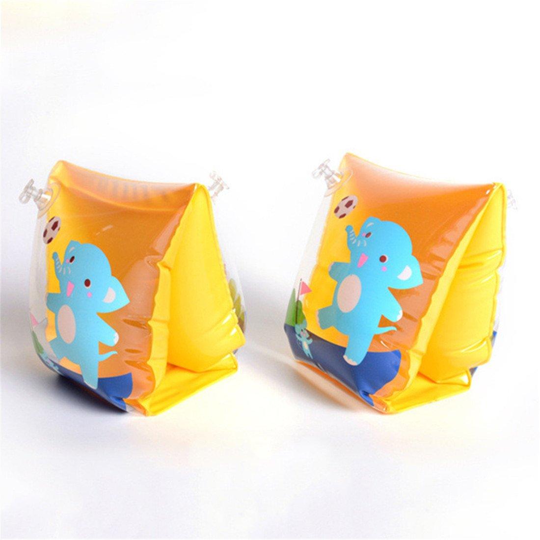 Grofitness gonflable Brassards de nage pour b/éb/é enfant commencer /à Nager Bras Anneaux avec animaux mignons dimpression