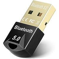 Maxuni Bluetooth 5.0 USB-adapter, USB 5.0-adaptermottagardongel för PC-bärbar dator, trådlös överföring för hörlurar…