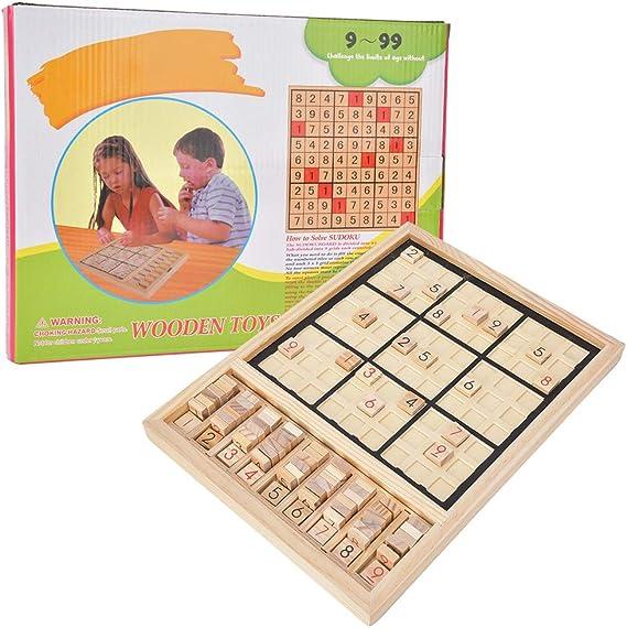 Madera Sudoku, Brain Training Juego de Mesa Inteligencia Desarrollo lógico Número de Juguete Rompecabezas Regalo de Juguete para niños pequeños: Amazon.es: Juguetes y juegos