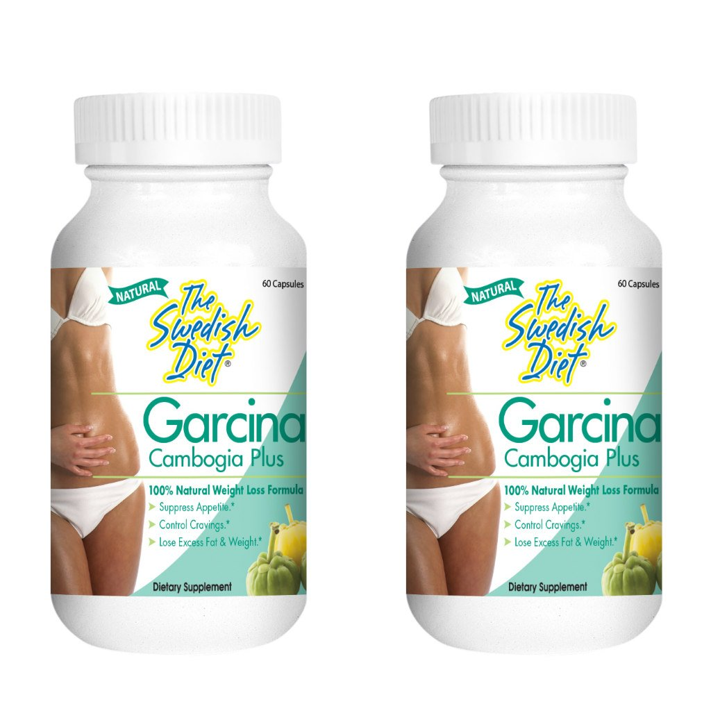 Garcinia CAMBOGIA Extract Weight Loss Pills Supplement 2-Pack 1000mg, 50% HCA per Serving Includes Calcium and Chromium