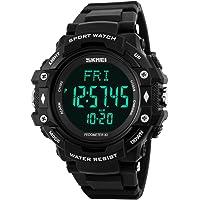 SKMEI Mens Heart Rate Sport Watch Military Waterproof PedometerWatch