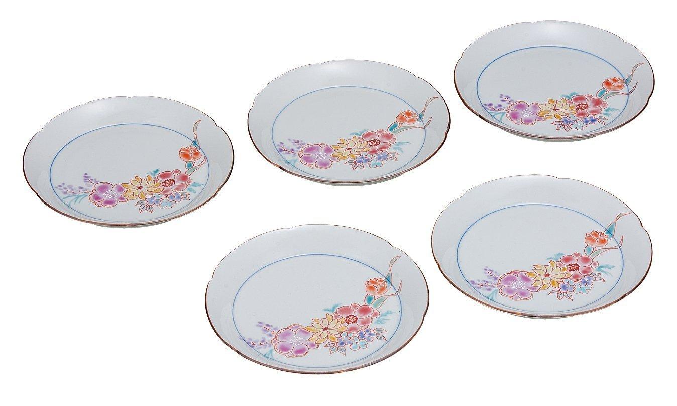 KUTANI Ware Plate Set / Yume Flower